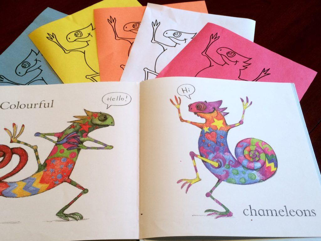 Another great activity for Emily Gravett's: blue Chameleon